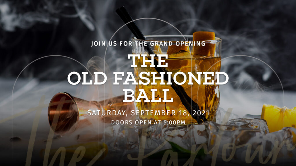 Glass of Old Fashioned to celebrate The Parlour Grand Opening at The Shops at Starwood in Frisco, Texas
